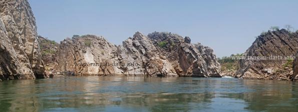Marble Rocks Panorama, Bhedaghat, Jabalpur, Madhya Pradesh (MP)