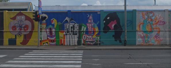 Signals and Zebra Crossing, Zagreb Graffiti Wall, Details from the Zagreb Grafiti Wall, Branimirova Street