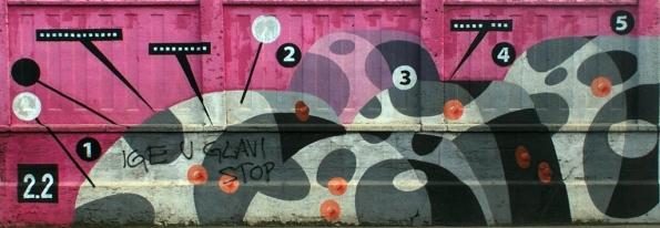 Details from the Zagreb Grafiti Wall, Branimirova Street