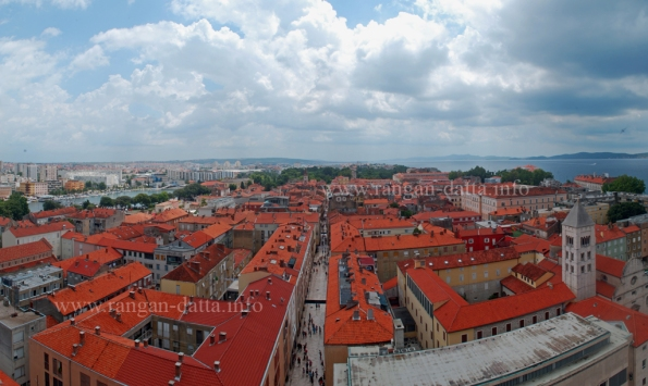 View of Zadar Town from Bell Tower