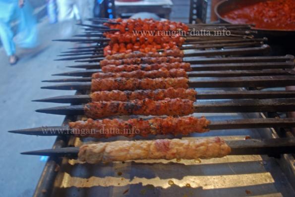 Kababs, Ramzan (Ramadan) Food Street, Nakhoda Masjid, Kolkata (Calcutta)