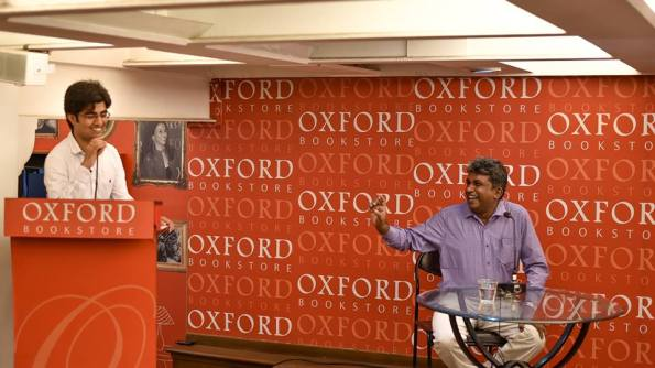 Anirban and me, QnA with Rangan Datta, a Kolkata Blogger Initiative, with Oxford Book Stores