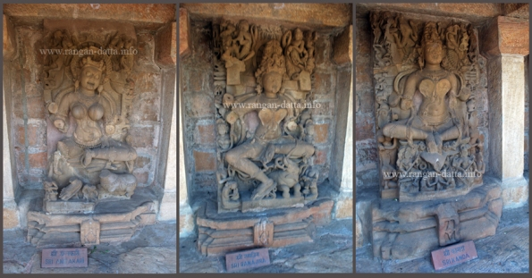 Collage of Yogini Statues (L: Anitakari, M: Ranajira, R: Kamda)