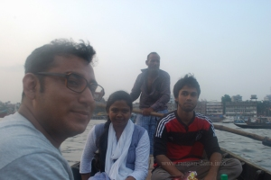 Crossing the Buriganga, Ibrahim, Afifa and Tanweer