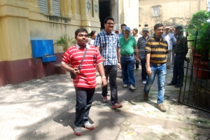 Calcutta Times Heritage Walkers at Beth El Synagogue