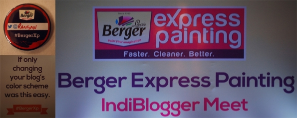 Berger Express Painting IndiBlogger Meet, Kolkata