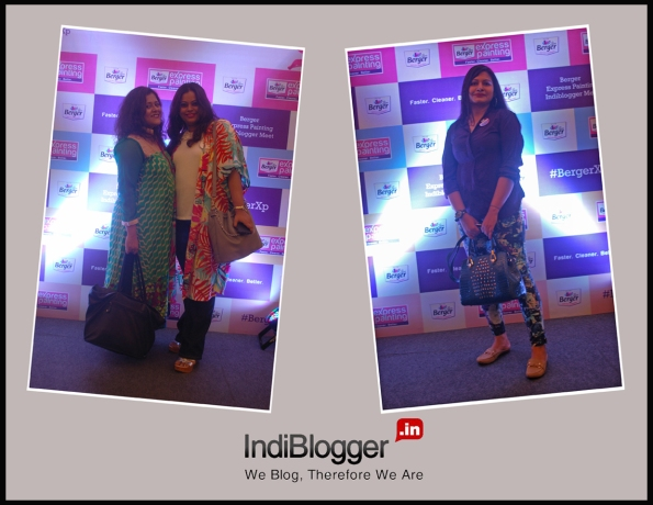 The Berger Express Painting IndiBlogger Meet, Kolkata, L: Poorna and Dolo, R: Maniparna
