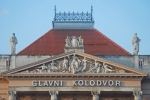 Architectural details at Glavni Koldovor (Main Station) entrance, ZagrebArchitectural details at Glavni Koldovor (Main Station) entrance, Zagreb