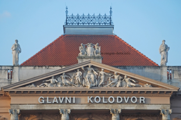 Architectural details at Glavni Koldovor (Main Station) entrance, ZagrebArchitectural details at Glavni Koldovor (Main Station) entrance, Zagreb