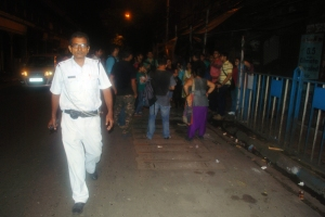 Under the watchful eye of Kolkata Police, Calcutta Ghost Walk