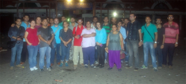 Ghost Walk Group, in front of Ne Market, Kolkata