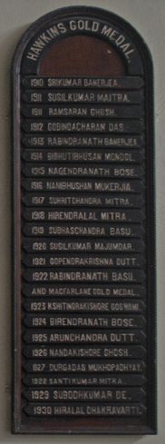 Hawkins Gold Medal List, Scottish Church College