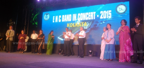 Felicitation of the band and artist, Indian Navy Band in Concert, Lascar Memorial, Kolkata