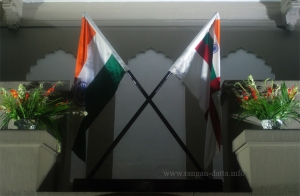 Crossed Indian National and Naval Flag, Lascar Memorial