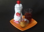 Ready to serve: Paper Boat Anar (Pomegranate) Juice and basan ladoos