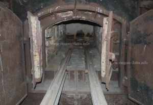 Interiors of the furnace, Gas Crematorium