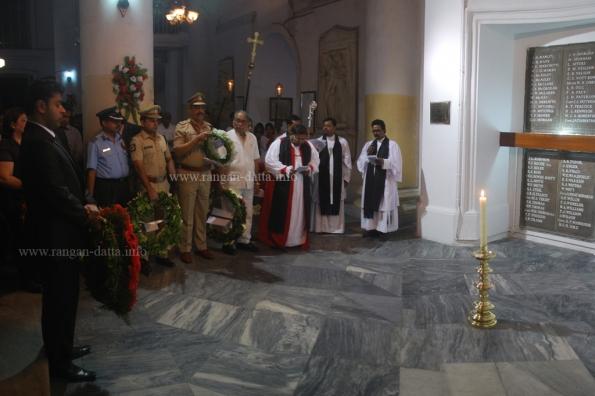 Wreath Layers at Memorial Corner, Remembrance day, St. John's Church, Kolkata