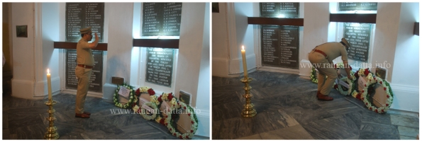 Tribute from the West bengal police, Remembrance day, St. John's Church, Kolkata