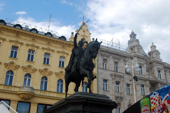 Statue of Ban Josip Jelačić at Ban Jelačić Square, Zagreb