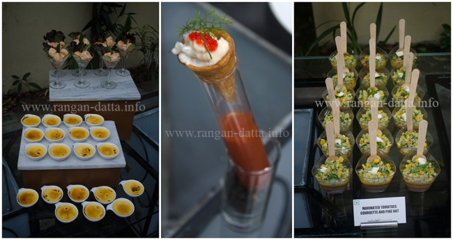 Samples of the exotic spread from the Goût de France, French Consulate, Kolkata