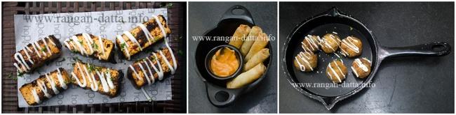 Hoppipola's Veg Snacks. L: Harrissan Paneer, M: Smoking Carlos, R: OMG