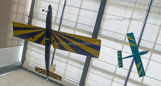 Suspended model planes, Hoppipola, Acropolis Mall, Kolkata