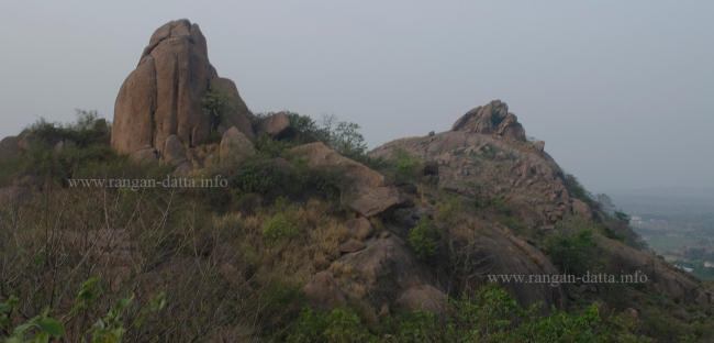 Rocky outcrops of Jaichandi Hill