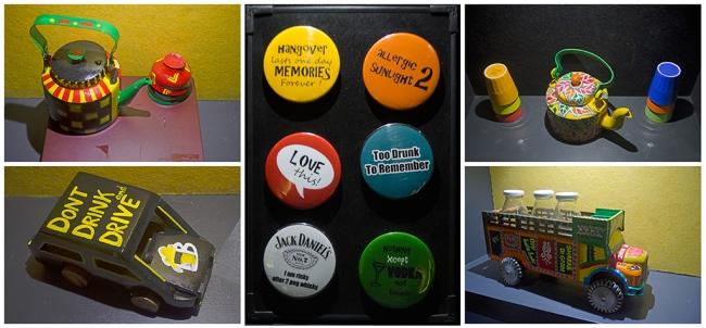 Mementos for sale at Wall Street Bar (WSB), Kolkata[/caption