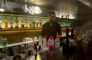 Bar Counter at Wall Street Bar (WSB)[/caption