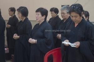 Devotees chants from prayer books