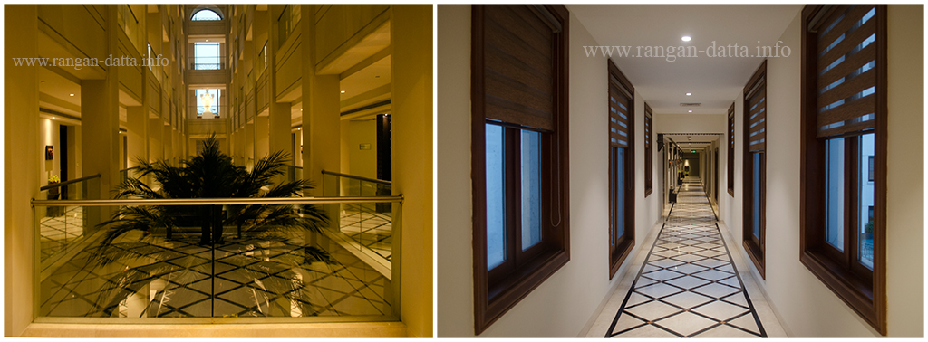Balconies and Corridors of The Lalit Great Eastern Hotel, Kolkata