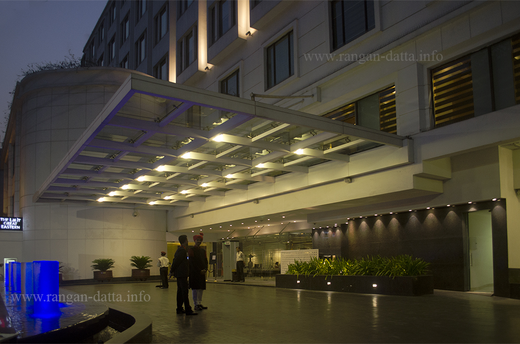 The grand entrance of The Lalit Great Eastern Hotel, popularly known as Great Eastern Hotel
