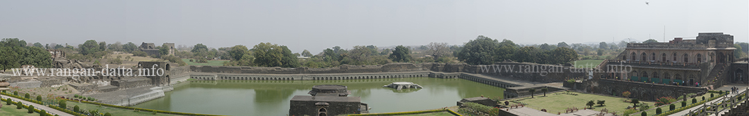 Panoramic view of Kapur Talao from Jahaz Mahal, Royal Enclave, Mandu