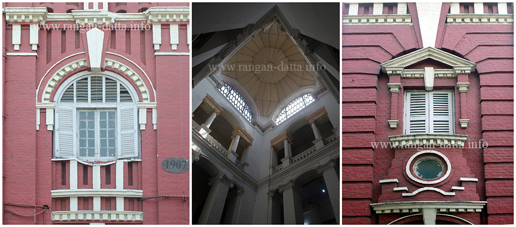 Ornate interiors and exteriors of the BNR Office, South Eastern Railway (SER) Headquarters, Garden Reach