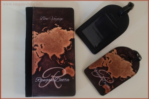 Perfico flux leather Passport holder and luggage tags
