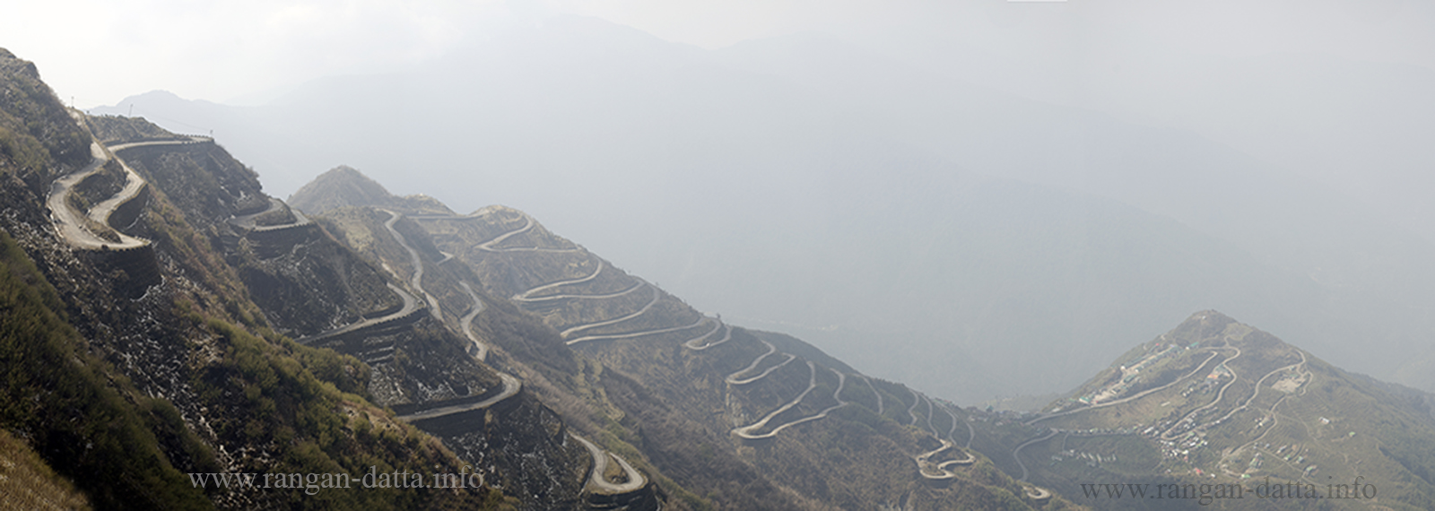 Zig Zag roads beyond Zuluk, Silk Route, East Sikkim