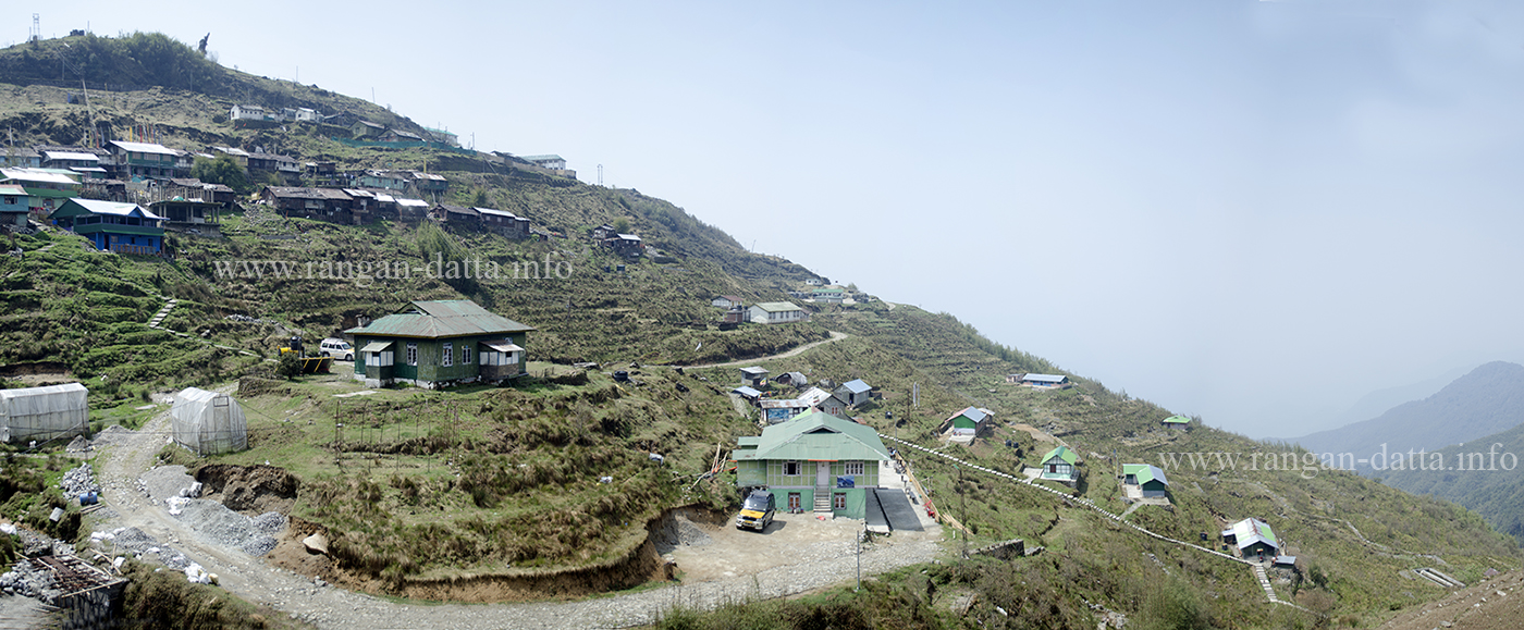 Panoramic view of Zuluk Village, Silk Route, East Sikkim