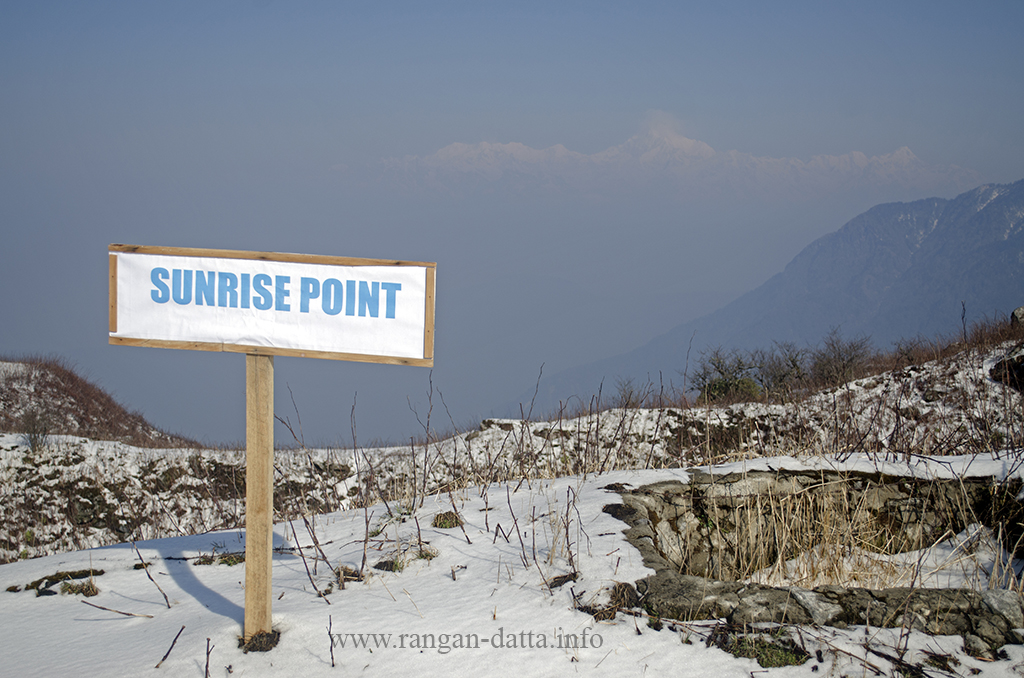 Lungthung Sunrise Point, with Kanchenjunga barely visible