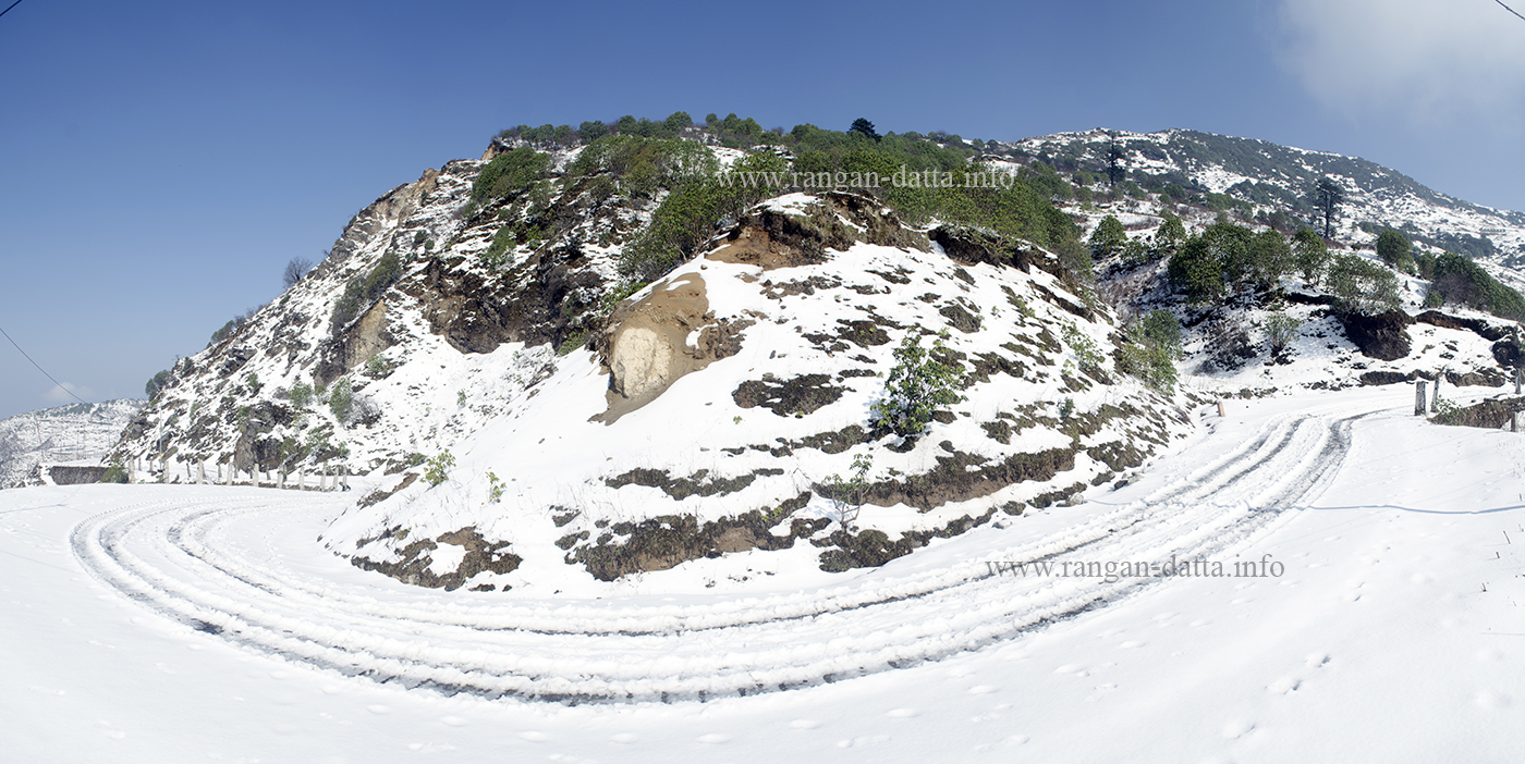 Panoramic snowscape, Silk Route, East Sikkim