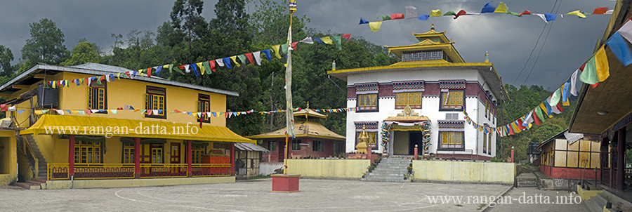 Panoramic view of Aritar Monastery, Aritar, East Sikkim, Sikkim