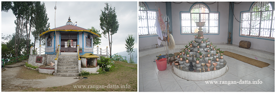 L:Rai Temple in Mankhin and R: Inside the Rai Temple