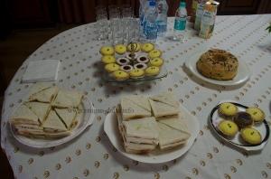Elaborate spread of snacks, Goodricke Office, Kolkata