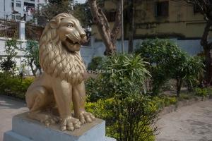 Statue of a lion, Japanese Buddhist Temple, Kolkata
