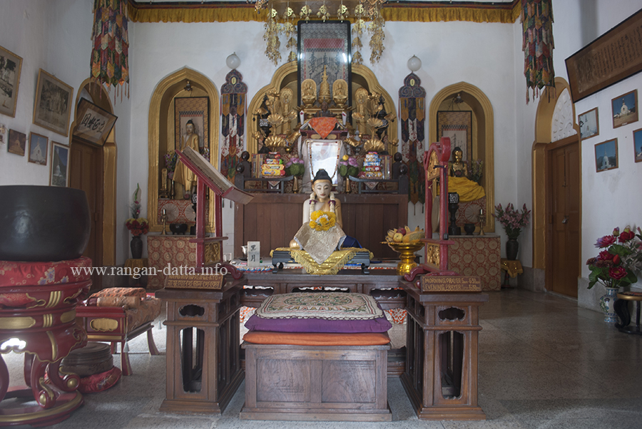 Interiors of Nipponzan Myohoji (Japanese) Buddhist Temple, Kolkata