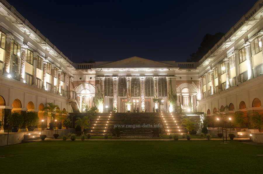 The Rajbari Bawali Heritage Hotel at night