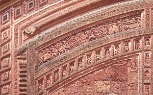 Details of terracotta ornamentation