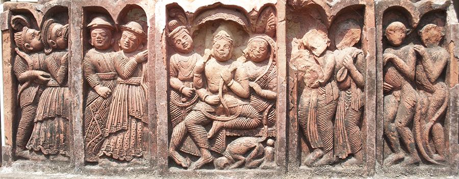 A terracotta panel from the Lakshmi Janardhan Temple, Debipur