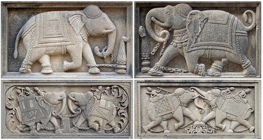Elephant Frieze, Cenotaph Complex, Maheshwar Fort, Maheshwar, Madhya Pradesh (MP)