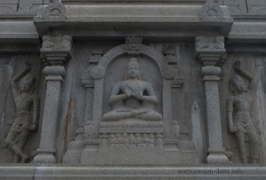 Meditating Buddha, at the pedestal of the Monolithic Buddha Statue