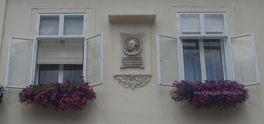 Windows with floral decoration, Samobor, Croatia